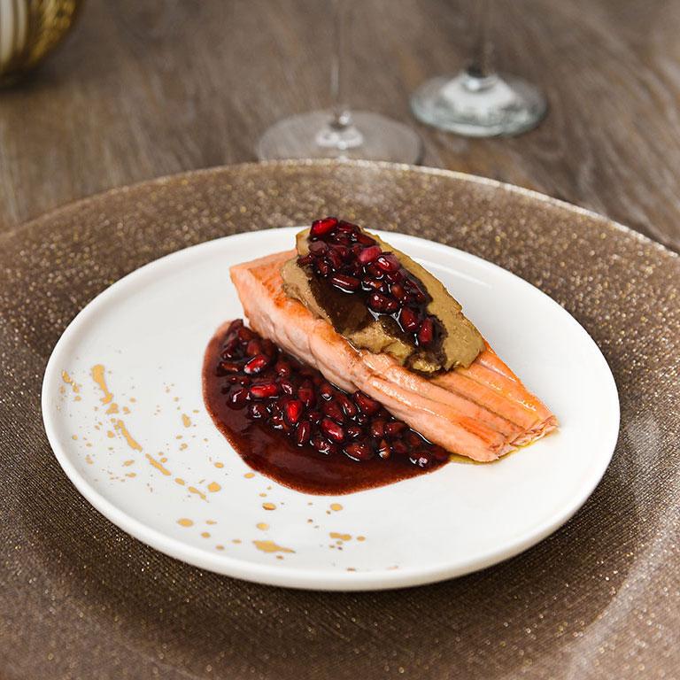 Saumon au foie gras