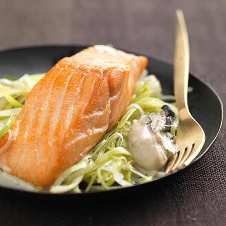 Pavés de Saumon écossais Label Rouge aux huîtres à l'estragon