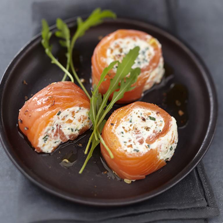 Spirale de Saumon écossais Label Rouge et crabe aux carottes fondantes