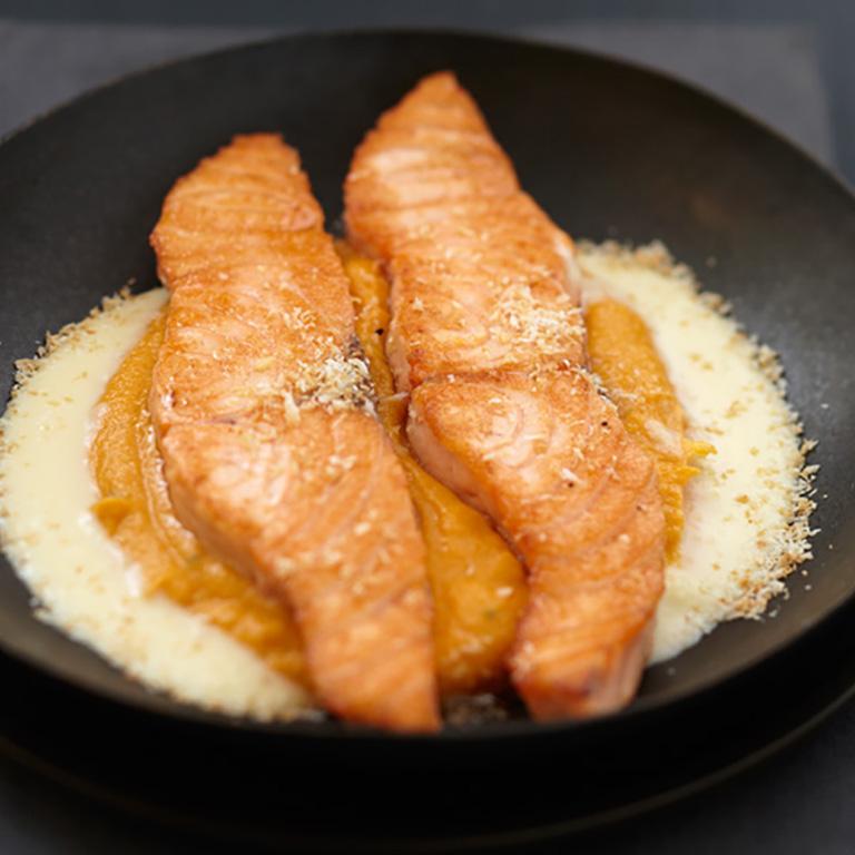Saumon écossais Label Rouge à la mousseline de carotte et coco