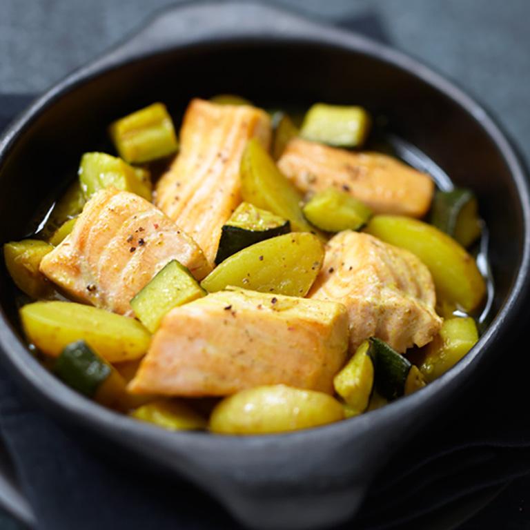 Saumon écossais Label Rouge aux courgettes et pommes de terre façon tajine