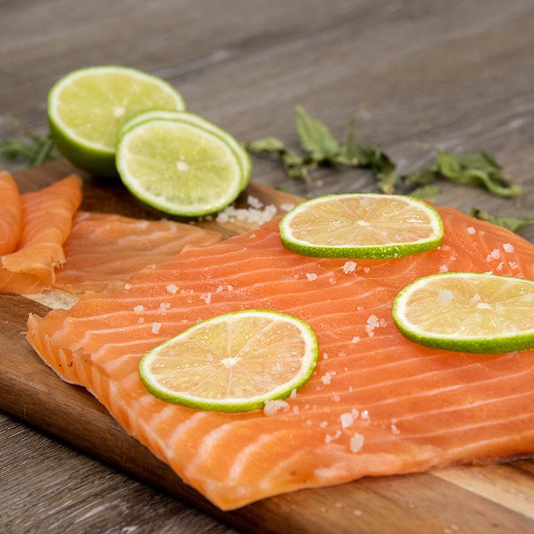 Gravlax de saumon au citron vert