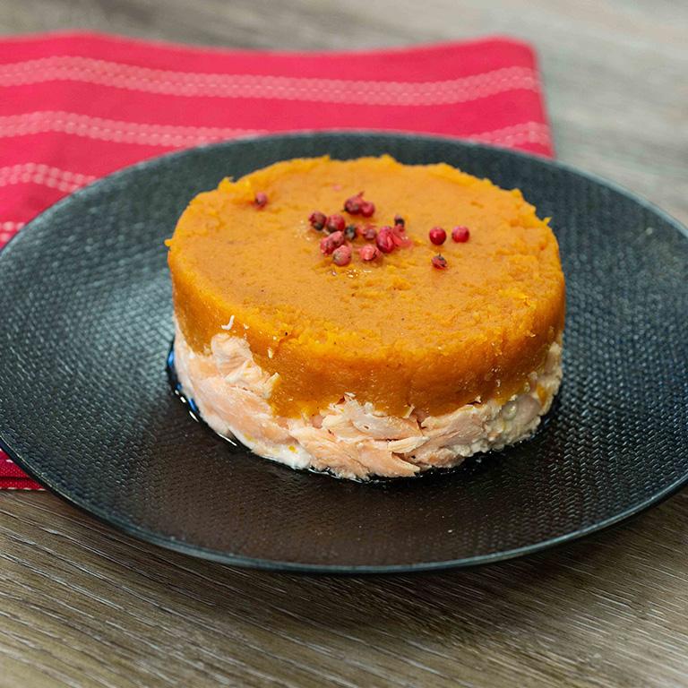 Hachi Parmentier de saumon écossais Label Rouge à la patate douce
