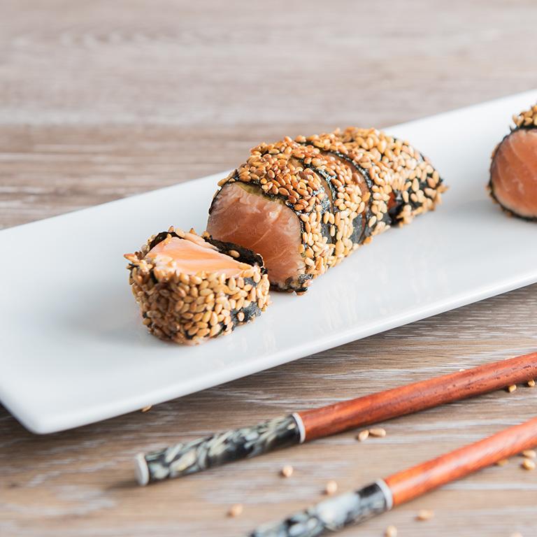 Roulé de saumon écossais Label Rouge au nori