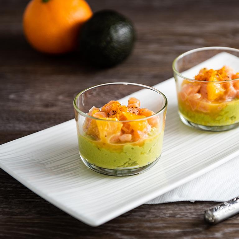 Fraicheur de saumon au guacamole