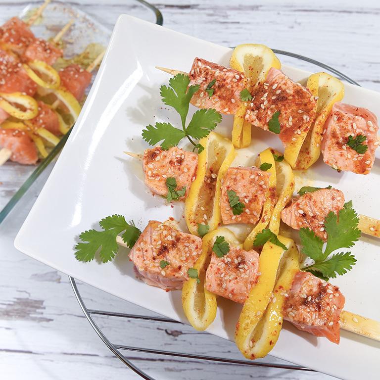 Brochette de Saumon Ecossais Label Rouge aux épices