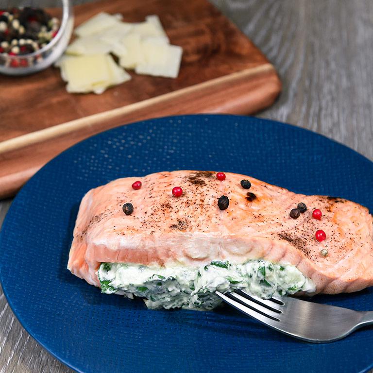 Saumon écossais Label rouge aux épinard crémeux