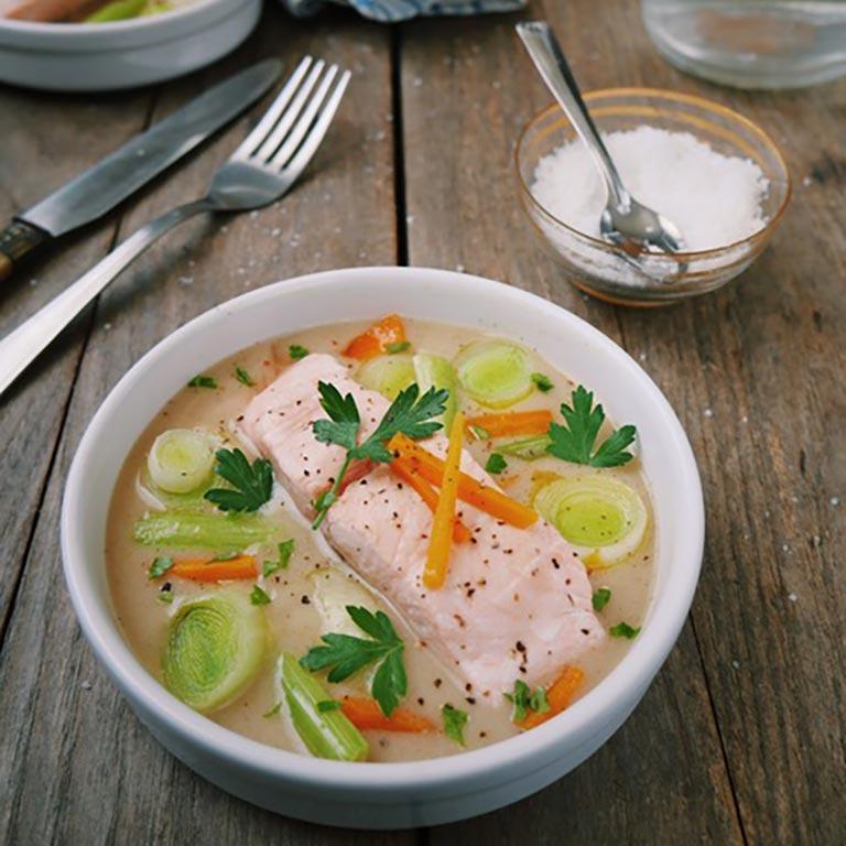 Waterzoi de saumon réalisé par Marciatack