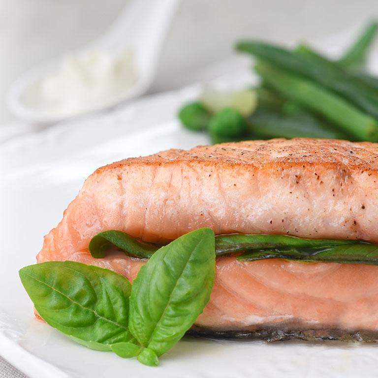 Saumon écossais Label Rouge et légumes verts