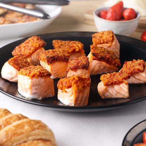 saumon-croute-de-chorizo