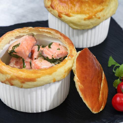 Pies de saumon écossais à la coriandre