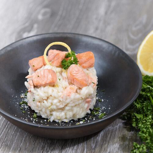 risotto crémeux au saumon écossais label rouge