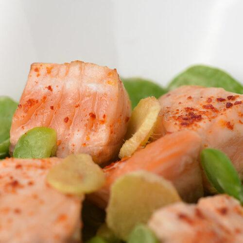 Recette saumon et fèves