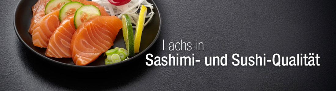 Lachs in Sashimi und Sushi Qualitat