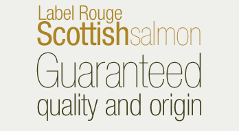 Label rouge Scottish salmon guaranteed quality and origin