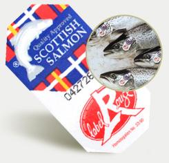 étiquette du saumon écossais label rouge